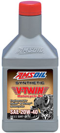20W-40 Synthetic V-Twin Motorcycle Oil for Victory & Indian motorcycles